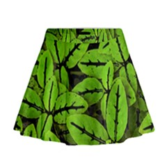 Nature Print Pattern Mini Flare Skirt