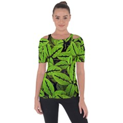 Nature Print Pattern Short Sleeve Top