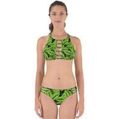 Nature Print Pattern Perfectly Cut Out Bikini Set