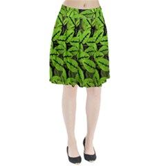 Nature Print Pattern Pleated Skirt