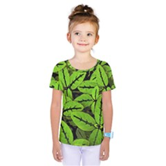 Nature Print Pattern Kids  One Piece Tee