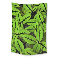 Nature Print Pattern Large Tapestry
