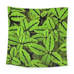 Nature Print Pattern Square Tapestry (large)