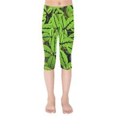 Nature Print Pattern Kids  Capri Leggings