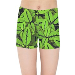 Nature Print Pattern Kids Sports Shorts