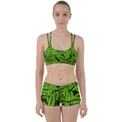 Nature Print Pattern Women s Sports Set
