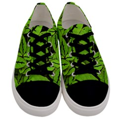 Nature Print Pattern Men s Low Top Canvas Sneakers