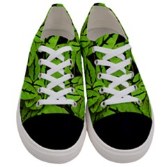 Nature Print Pattern Women s Low Top Canvas Sneakers