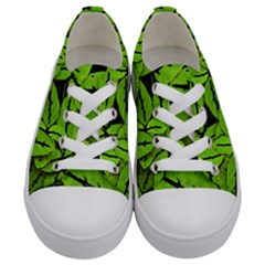 Nature Print Pattern Kids  Low Top Canvas Sneakers
