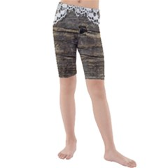 Shabbychicwoodwall Kids  Mid Length Swim Shorts
