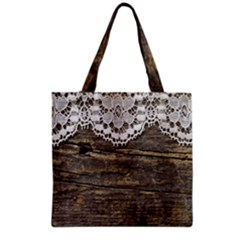 Shabbychicwoodwall Grocery Tote Bag