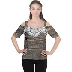 Shabbychicwoodwall Cutout Shoulder Tee