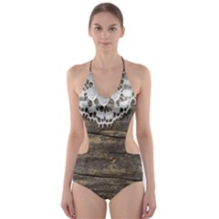 Shabbychicwoodwall Cut Out One Piece Swimsuit