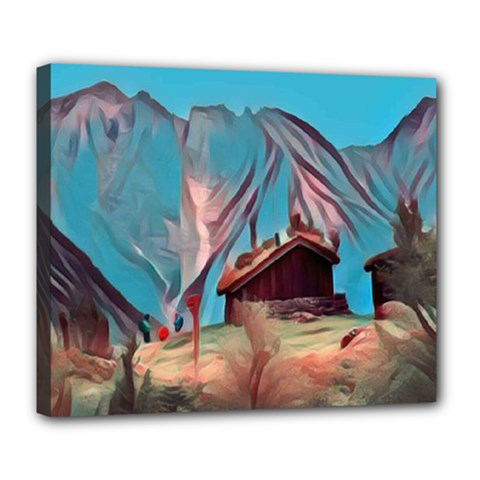 Modern Norway Painting Deluxe Canvas 24  X 20