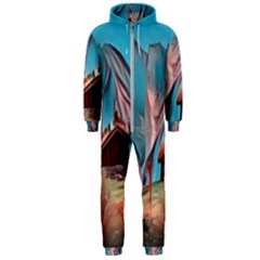 Modern Norway Painting Hooded Jumpsuit (men)
