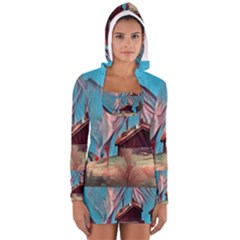 Modern Norway Painting Long Sleeve Hooded T Shirt