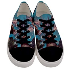 Modern Norway Painting Men s Low Top Canvas Sneakers