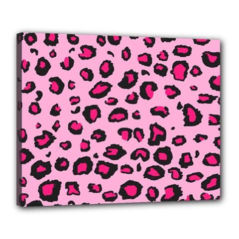 Pink Leopard Canvas 20  X 16
