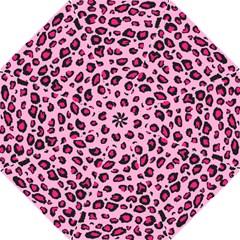 Pink Leopard Folding Umbrellas