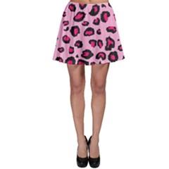 Pink Leopard Skater Skirt