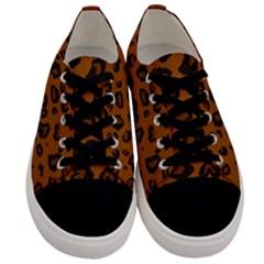 Dark Leopard Men s Low Top Canvas Sneakers
