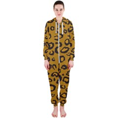 Golden Leopard Hooded Jumpsuit (ladies)