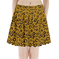 Golden Leopard Pleated Mini Skirt