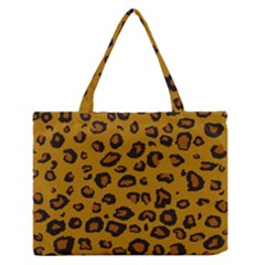 Classic Leopard Zipper Medium Tote Bag