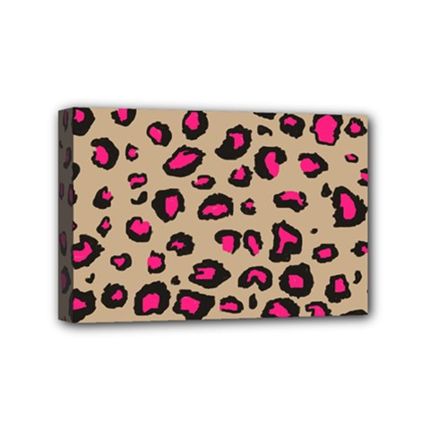 Pink Leopard 2 Mini Canvas 6  X 4