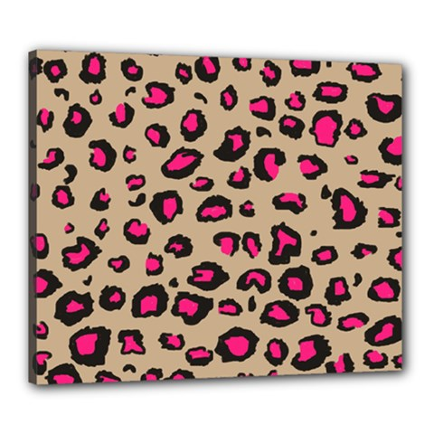 Pink Leopard 2 Canvas 24  X 20
