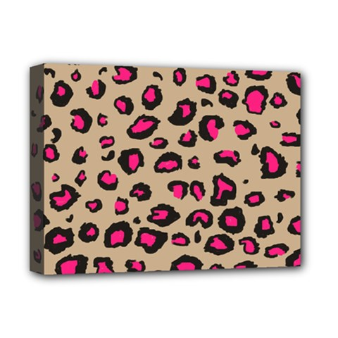 Pink Leopard 2 Deluxe Canvas 16  X 12