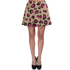 Pink Leopard 2 Skater Skirt