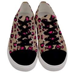 Pink Leopard 2 Men s Low Top Canvas Sneakers