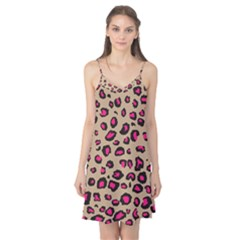 Pink Leopard 2 Camis Nightgown