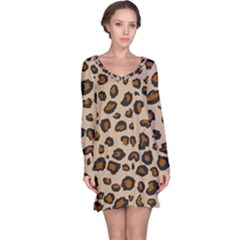 Leopard Print Long Sleeve Nightdress