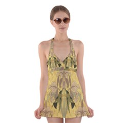 Art Nouveau Halter Swimsuit Dress
