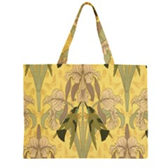 Art Nouveau Zipper Large Tote Bag