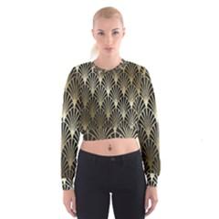 Art Deco Cropped Sweatshirt
