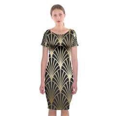 Art Deco Classic Short Sleeve Midi Dress
