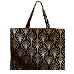 Art Deco Zipper Medium Tote Bag