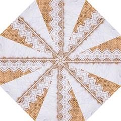 Parchement,lace And Burlap Folding Umbrellas