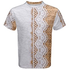 Parchement,lace And Burlap Men s Cotton Tee