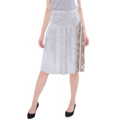 Parchement,lace And Burlap Midi Beach Skirt