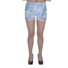 Countryblueandwhite Skinny Shorts