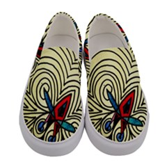Bee Hive Women s Canvas Slip Ons