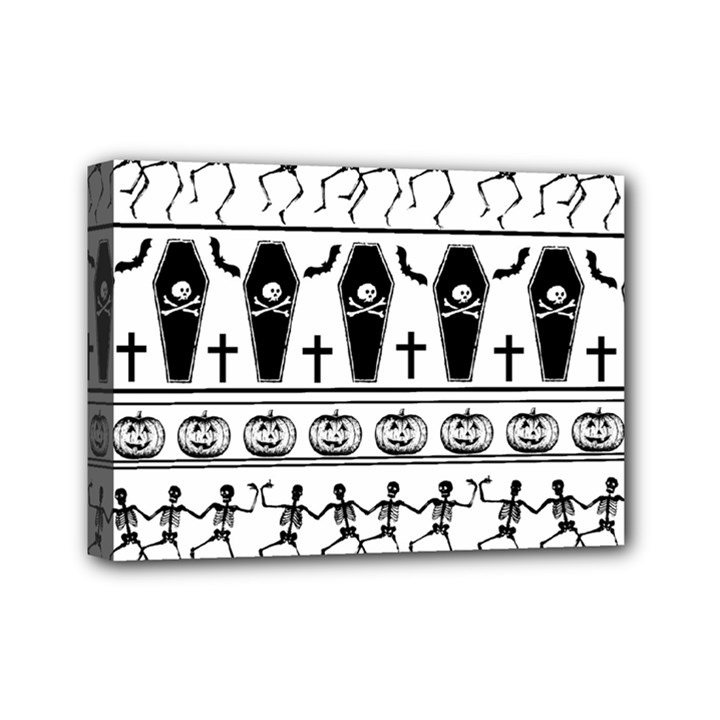 Halloween pattern Mini Canvas 7  x 5