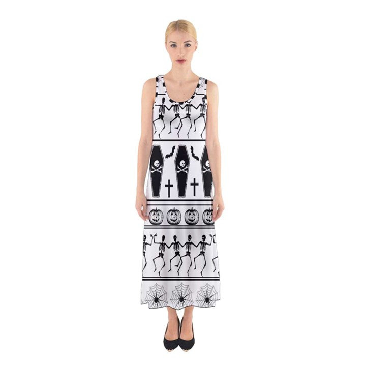 Halloween pattern Sleeveless Maxi Dress