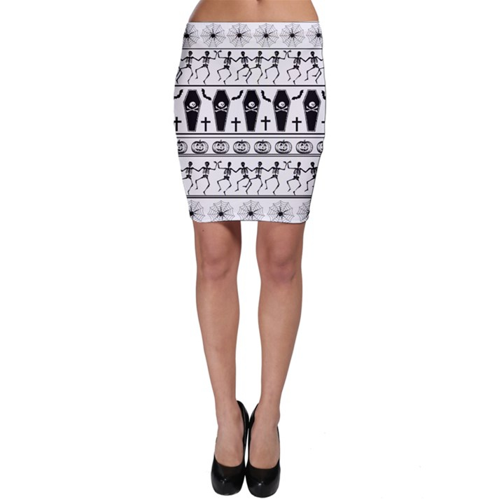 Halloween pattern Bodycon Skirt
