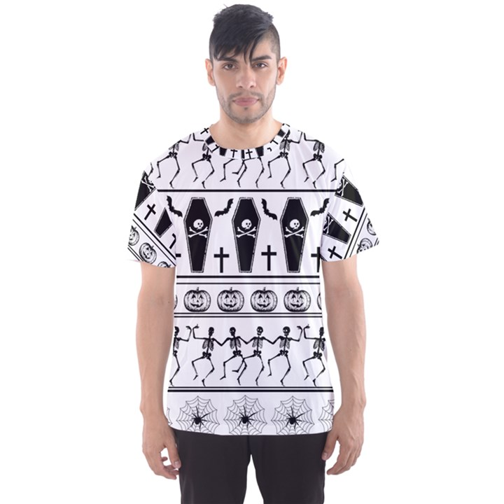 Halloween pattern Men s Sports Mesh Tee