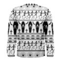 Halloween pattern Men s Long Sleeve Tee View2